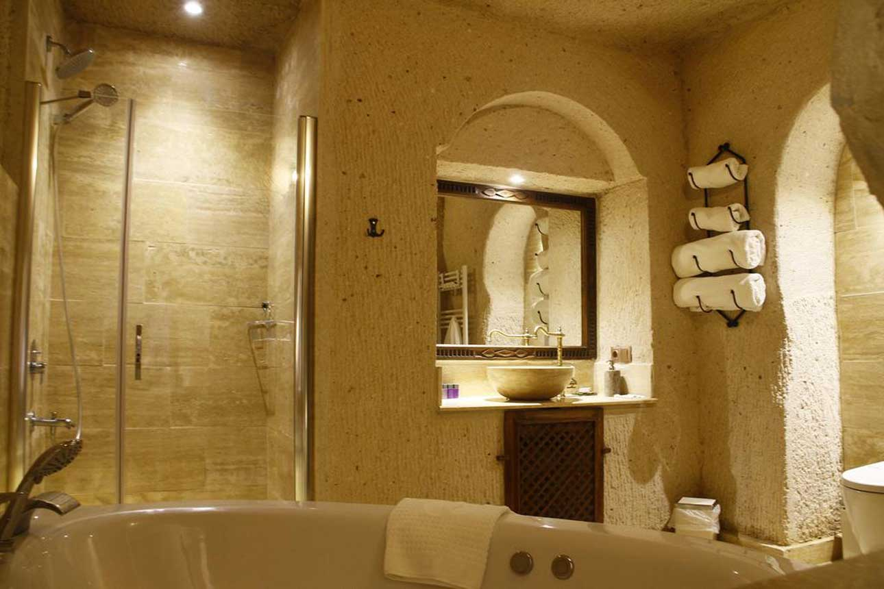 ensuite bathrooms Alba Cave Cappadocia Hotel