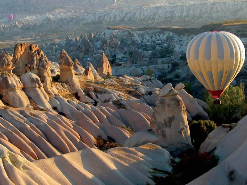 Hot air balloon in Cappadocia